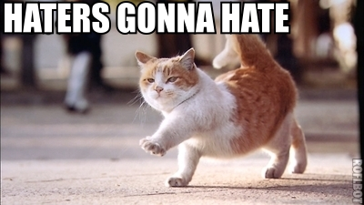Haters Gonna Hate Cat Walking