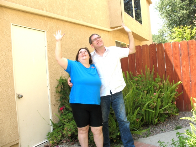 Mr and Ms. Geek Wave at Saturn during NASA's World's Largest Photobomb