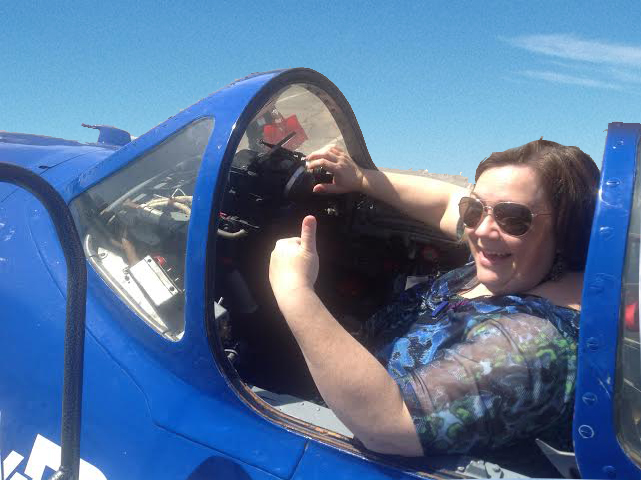 Jeanette rocks out in a Russian Mig