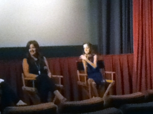 Lizzie and Sara at the PGA screening.